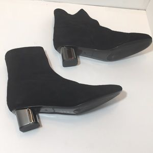 Robert Clergerie Pili Black Suede Ankle Boots 37